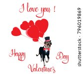 happy valentine's day greeting... | Shutterstock .eps vector #796019869