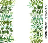 floral template wich herb and... | Shutterstock .eps vector #796020577