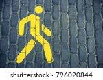 pedestrian sign. the pedestrian ...