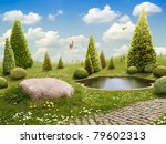 green park   background for... | Shutterstock . vector #79602313