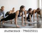 group of young sporty people... | Shutterstock . vector #796025311