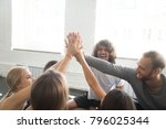 group of young sporty people... | Shutterstock . vector #796025344