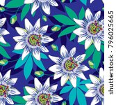 vector seamless pattern with... | Shutterstock .eps vector #796025665