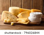 Various Types Of Cheese On Dar...