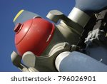 colorful aircraft propeller... | Shutterstock . vector #796026901