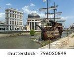 skopje  republic of macedonia   ... | Shutterstock . vector #796030849