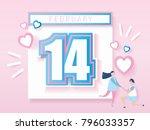 love calendar design for... | Shutterstock .eps vector #796033357