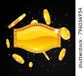 golden vector casino vegas sign ... | Shutterstock .eps vector #796036954