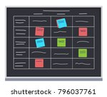 scrum methodology task board... | Shutterstock .eps vector #796037761