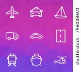 transport icons line style set... | Shutterstock .eps vector #796038601
