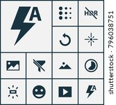 image icons set with brightness ... | Shutterstock .eps vector #796038751