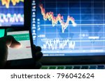 crypto currencies  trader using ...   Shutterstock . vector #796042624
