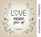 bible quote design with floral...   Shutterstock .eps vector #796046251