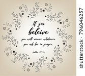 bible quote design with floral...   Shutterstock .eps vector #796046257