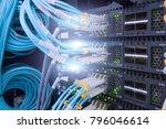 fiber optical connector...   Shutterstock . vector #796046614