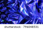 holographic wrinkled abstract... | Shutterstock . vector #796048531