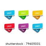 vector set with triangle banners | Shutterstock .eps vector #79605031