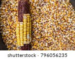 Dry Corn Seeds. Dry Corn Cob O...