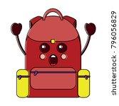 surprised backpack school... | Shutterstock .eps vector #796056829