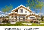 3d rendering of modern cozy... | Shutterstock . vector #796056994