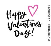hand lettering modern... | Shutterstock .eps vector #796058059