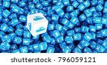 a lot of scattered cubes with... | Shutterstock . vector #796059121