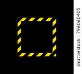 logo alarm yellow lines vector | Shutterstock .eps vector #796060405