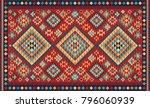 Colorful Mosaic Oriental Kilim...