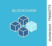 blockchain vector icon.    Shutterstock .eps vector #796065775