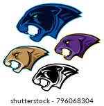 panther or cougar head mascot   Shutterstock .eps vector #796068304