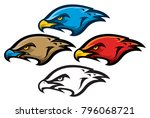 bird of prey mascot head | Shutterstock .eps vector #796068721
