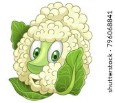 cartoon cauliflower character... | Shutterstock .eps vector #796068841