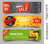 set of isolated tags for retail ... | Shutterstock .eps vector #796071979