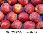 Red apples at a farmer's market - stock photo