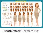 set of businesswoman character... | Shutterstock .eps vector #796074619
