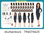 Set Of Businesswoman Character...