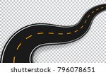 winding road isolated... | Shutterstock .eps vector #796078651