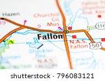 Small photo of Fallon. Nevada. USA on a map
