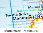pacific grove. california. usa... | Shutterstock . vector #796083847