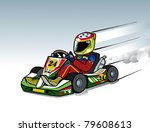 karting race go kart to fast | Shutterstock .eps vector #79608613