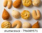 assorted snacks  pao de queijo  ... | Shutterstock . vector #796089571