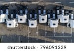 aerial drone view of parked... | Shutterstock . vector #796091329