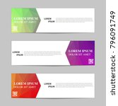 set of banners from the polygon ... | Shutterstock .eps vector #796091749