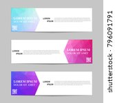 set of banners from the polygon ... | Shutterstock .eps vector #796091791