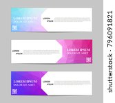 set of banners from the polygon ... | Shutterstock .eps vector #796091821