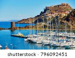 scenic view to castelsardo...   Shutterstock . vector #796092451