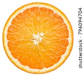 Orange slice  clipping path ...