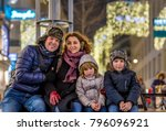 vienna at christmas time ... | Shutterstock . vector #796096921