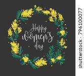 happy women's day inscription... | Shutterstock .eps vector #796100077