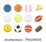 vector cartoon colorful ball... | Shutterstock .eps vector #796104055